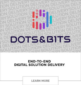 The Logo of dots and bits - End-to-End Digital Solutions Delivery. Click to Learn More.